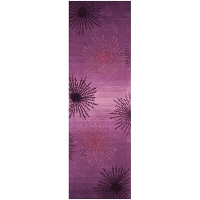 Beaufays Hand-Tufted Purple Area Rug Rug Size: Rectangle 26 x 8