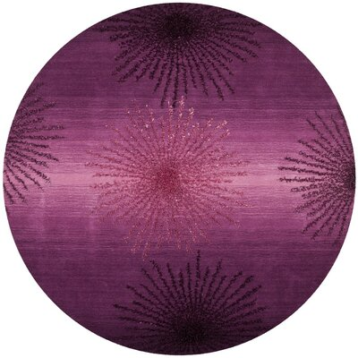 Beaufays Hand-Tufted Purple Area Rug Rug Size: Round 6 x 6