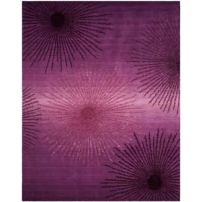 Beaufays Hand-Tufted Purple Area Rug Rug Size: 76 x 96