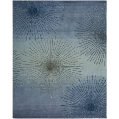 Germain Hand-Tufted Gray/Blue Area Rug Rug Size: Rectangle 76 x 96