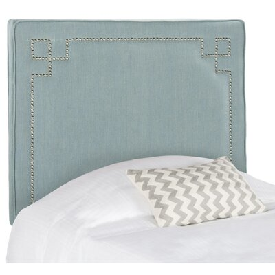 Kubrick Upholstered Panel Headboard Size: Twin, Color: Sky Blue, Upholstery: Polyester