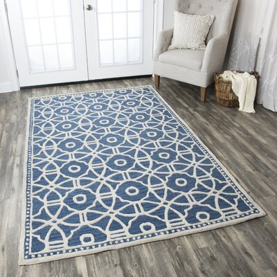 Wright Hand-Tufted Blue Area Rug Rug Size: Runner 26 x 8