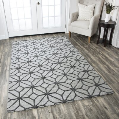 Wright Hand-Tufted Gray Area Rug Rug Size: Runner 26 x 8