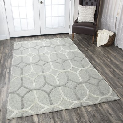 Judy Hand-Tufted Gray Area Rug Rug Size: Runner 26 x 8