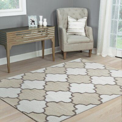 Judy Hand-Tufted Ivory Area Rug Rug Size: Runner 26 x 8
