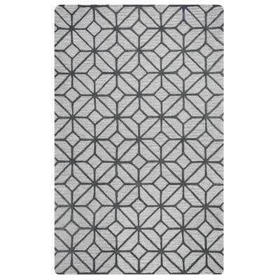 Wright Hand-Tufted Gray Area Rug Rug Size: 9 x 12