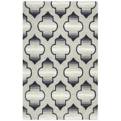 Chandler Hand-Tufted Gray Area Rug Rug Size: Rectangle 5 x 8