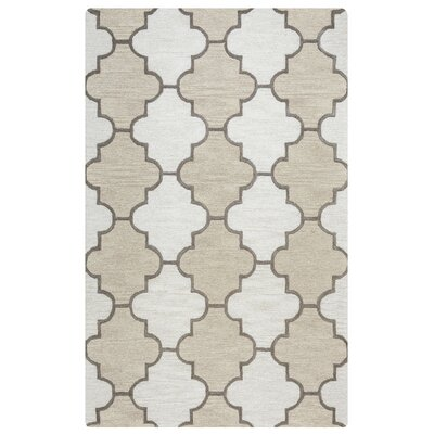 Judy Hand-Tufted Ivory Area Rug Rug Size: Rectangle 5' x 8'