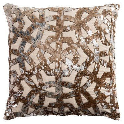Peverall Leather Throw Pillow