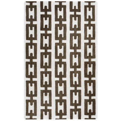 Judy Hand-Tufted Off White Area Rug Rug Size: 5 x 8
