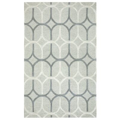 Judy Hand-Tufted Gray Area Rug Rug Size: Rectangle 8 x 10