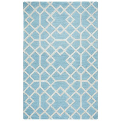 Pero Hand-Tufted Blue Area Rug Rug Size: Rectangle 8 x 10