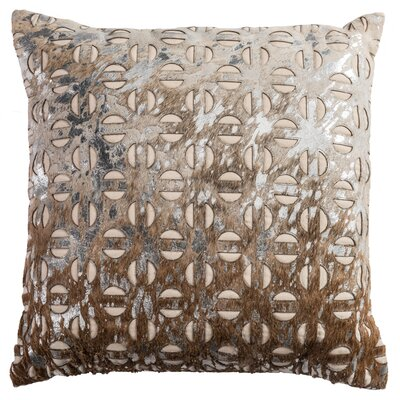 Savone Leather Throw Pillow