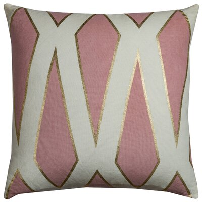 Fellner Cotton Throw Pillow Color: Pink
