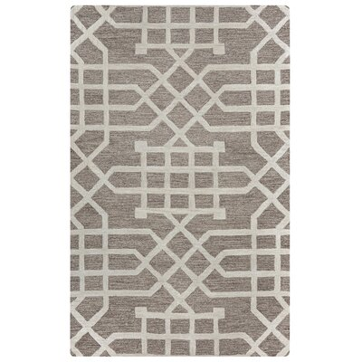 Judy Hand-Tufted Taupe/Tan Area Rug Rug Size: Rectangle 5 x 8