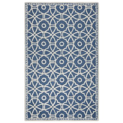 Wright Hand-Tufted Blue Area Rug Rug Size: 5 x 8