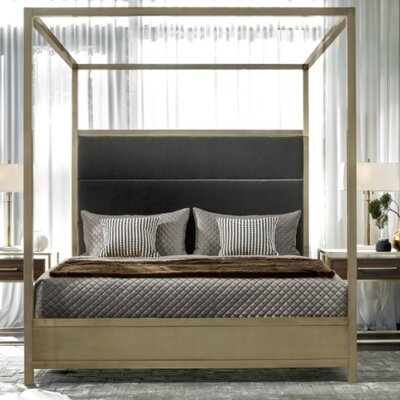 Dodsworth upholstered  Panel Bed Size: King
