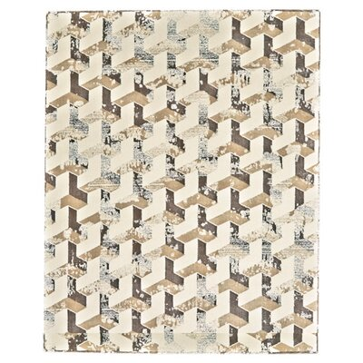 Gladwin Cream/Brown Area Rug Rug Size: Rectangle 5 x 8