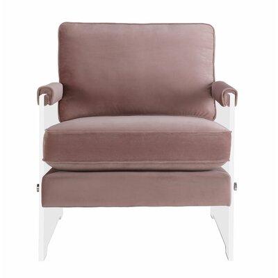 Edi Velvet/Lucite Armchair Upholstery: Blush