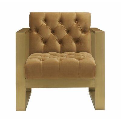 Chevy Velvet Armchair Upholstery Color: Cognac