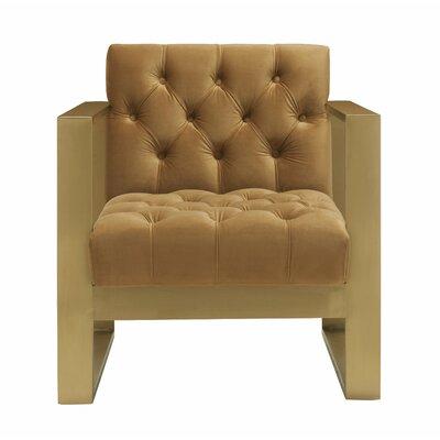 Chevy Velvet Armchair Upholstery: Cognac