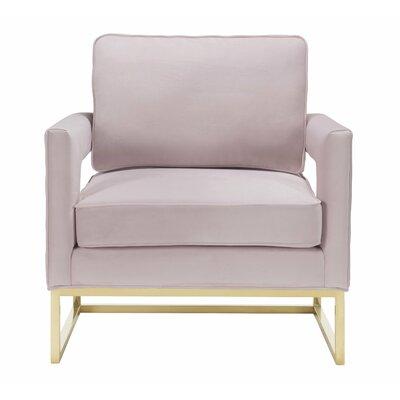 Resnick Mauve Velvet Arm Chair