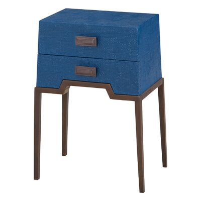Rittenberry End Table Color: Navy Blue