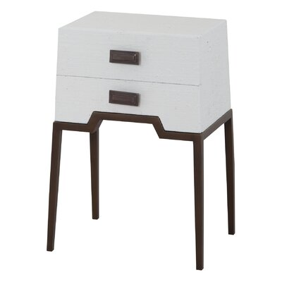 Rittenberry End Table Color: White