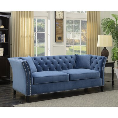 Roberge Tufted Wingback Chesterfield Sofa