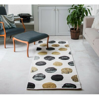 Stockport White/Black/Brown Area Rug