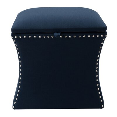 Langlais Storage Ottoman Upholstery: Midnight Blue