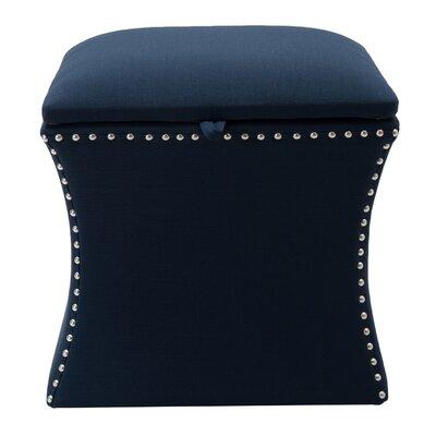 Langlais Storage Ottoman Upholstery: Midnight Blue