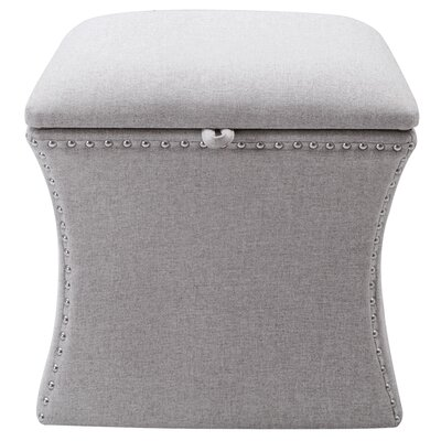 Langlais Storage Ottoman Upholstery: Light Gray