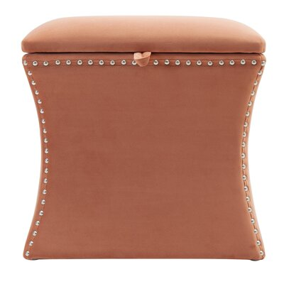 Langlais Storage Ottoman Upholstery: Orange