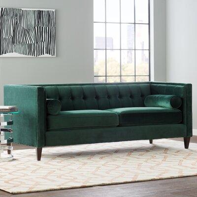 Pineview Tuxedo Chesterfield Sofa Upholstery: Hunter Green