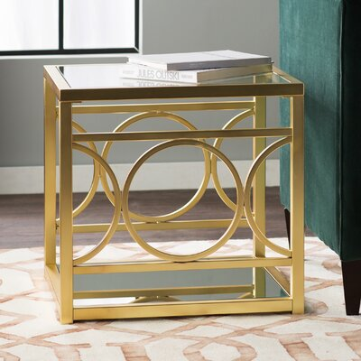 Heverlee End Table Color: Champagne