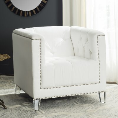 Gigliotti Club Chair Fabric: White/Clear