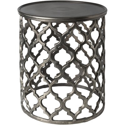 Daniella End Table Color: Charcoal