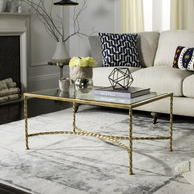 Marcia Glass Top Coffee Table