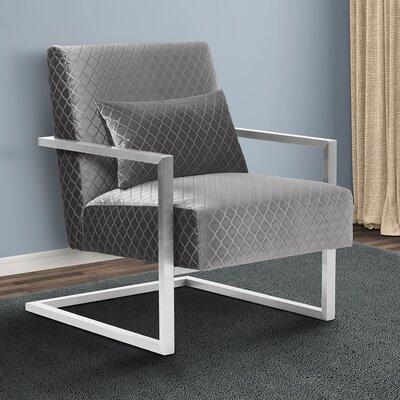 Ava Armchair Upholstery: Gray