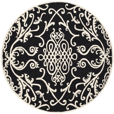 Thornbury Black / Ivory Rug Rug Size: Rectangle 36 x 56