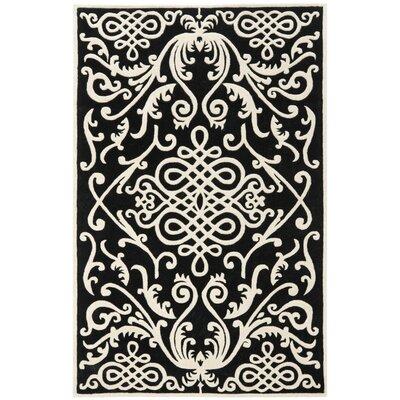 Thornbury Black / Ivory Rug Rug Size: 2 x 3