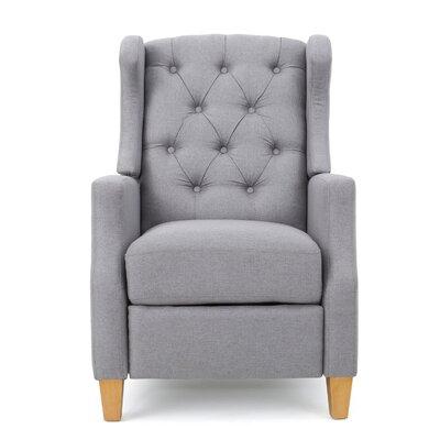 Horowitz Tufted Recliner Upholstery: Light Gray