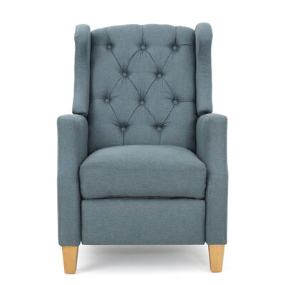 Cohen Tufted Recliner Upholstery: Blue Gray
