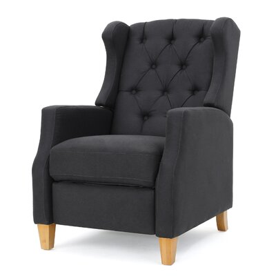 Cohen Tufted Manual Recliner Upholstery: Dark Charcoal