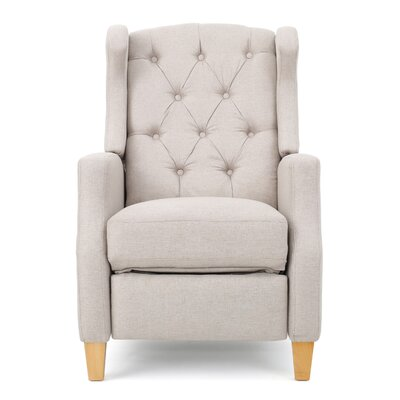 Cohen Tufted Recliner Upholstery: Beige