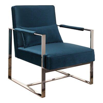Alvara Stainless Steel Armchair