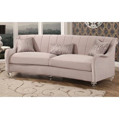 Huston Curved Fabric Sofa