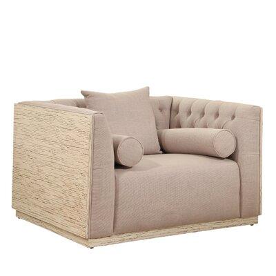 Chauntel Fabric Wood Barrel Chair