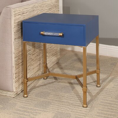 Camilla End Table Top Finish: Blue